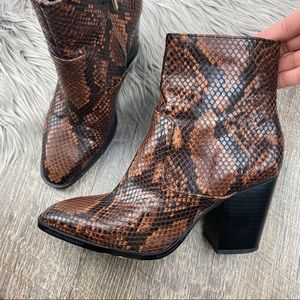 BLOGGER FAVE —ZARA Snake Skin Ankle Boots